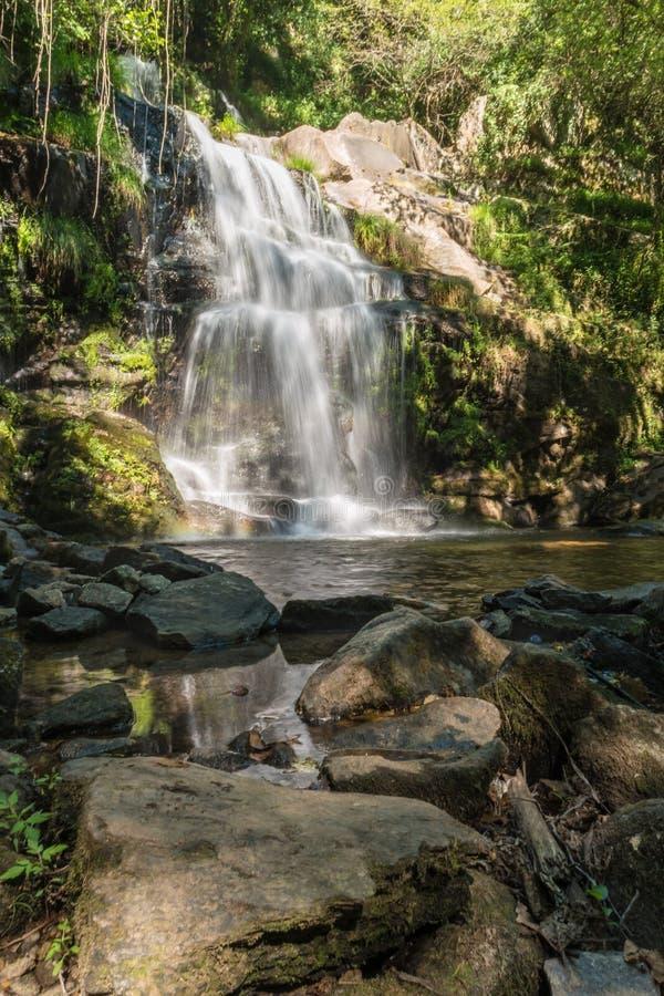 Beautiful waterfall in Cabreia, Sever do Vouga, Aveiro, Portugal.  royalty free stock photo