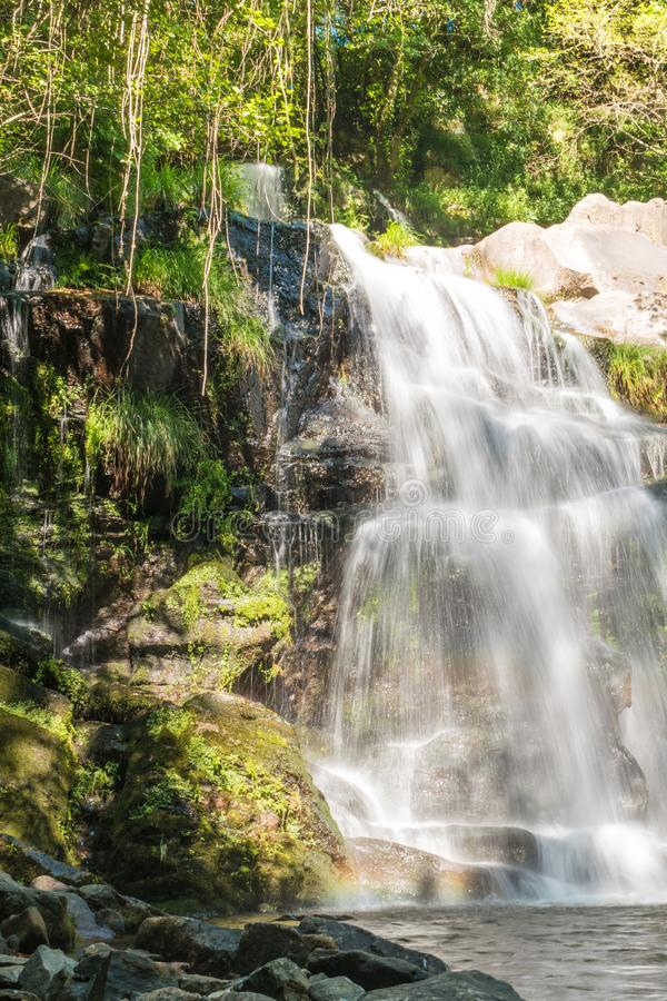 Beautiful waterfall in Cabreia, Sever do Vouga, Aveiro, Portugal.  stock photography
