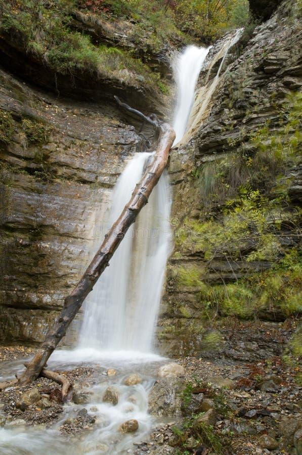 Beautiful Waterfall  In Crimea Stock Photo