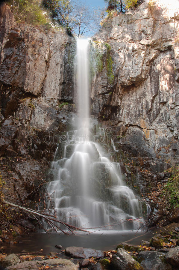 The Beautiful Waterfall In Forest Stock Photos