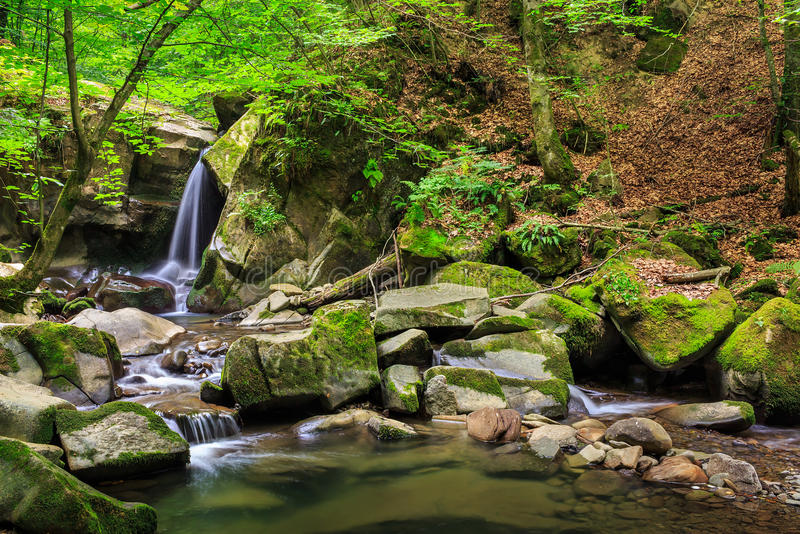 Download Beautiful Waterfall  In The Forest Stock Photo - Image: 38994280