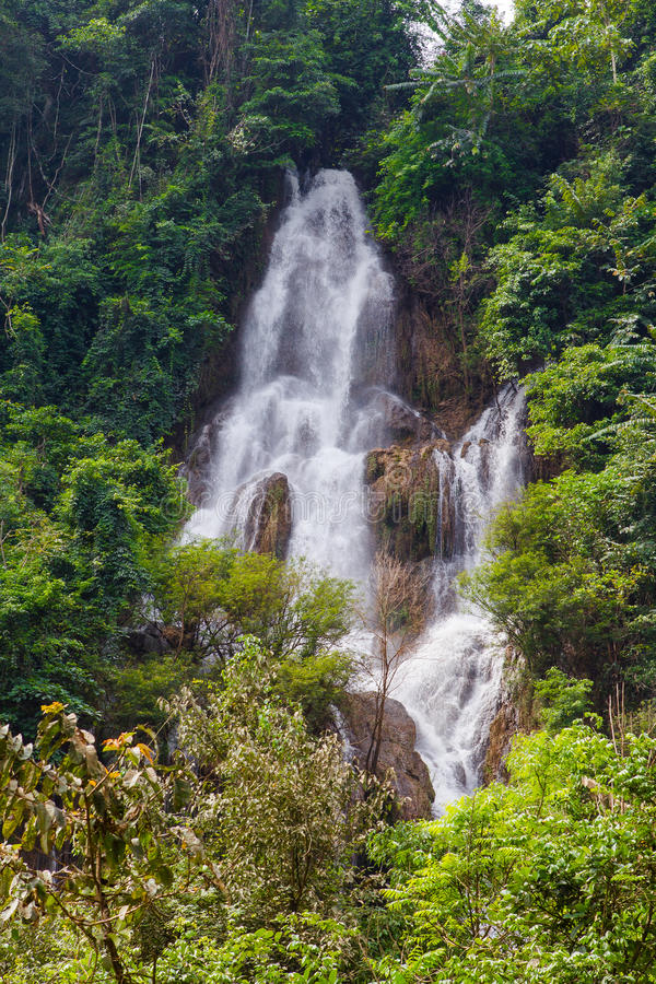 Download Beautiful Waterfall In Forest At Thailand Stock Image - Image: 32451691