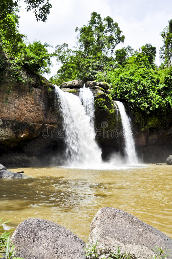 Download Beautiful Waterfall In The Jungle. Stock Photo - Image: 20806650