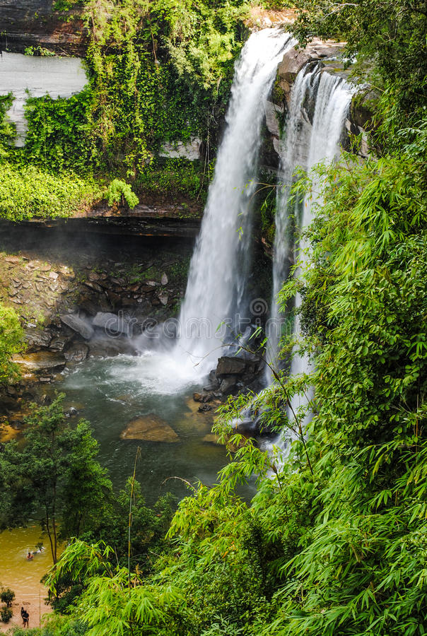 Beautiful Waterfall In The National Park Stock Photos