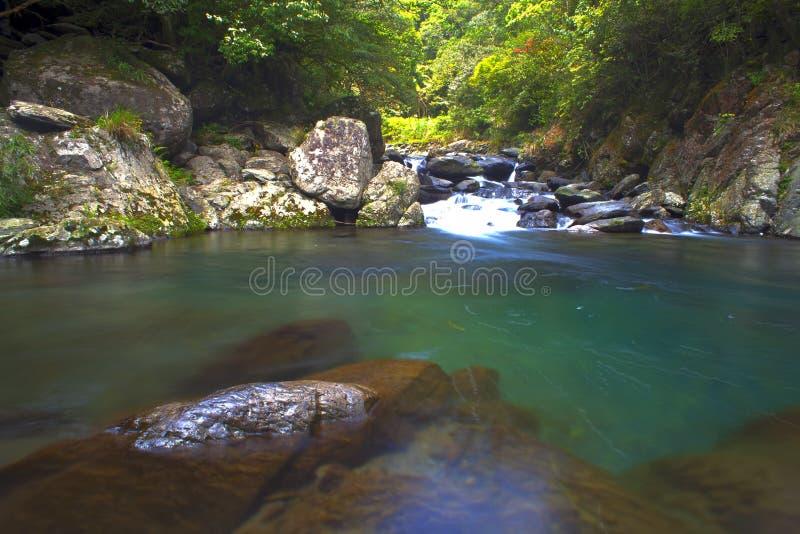 Beautiful waterfall, Taiwan stock images