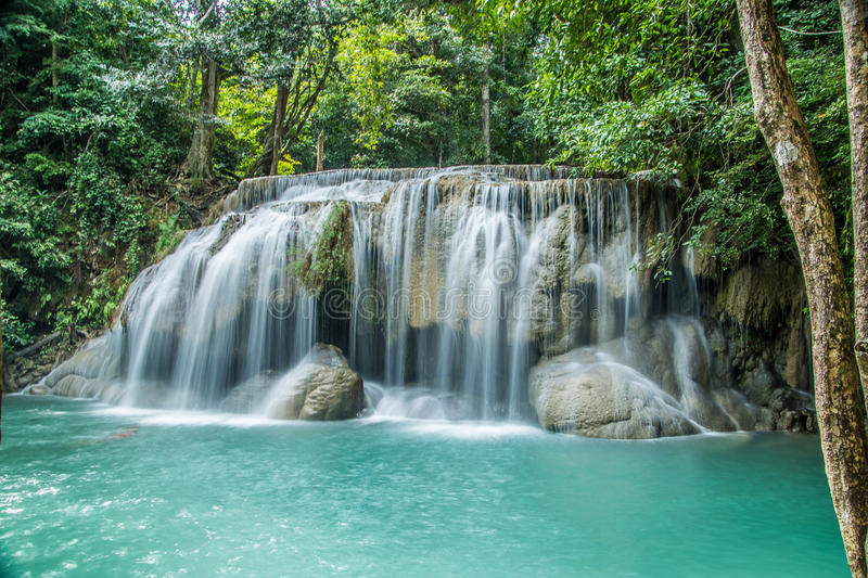 Beautiful Waterfall in thailand royalty free stock photos