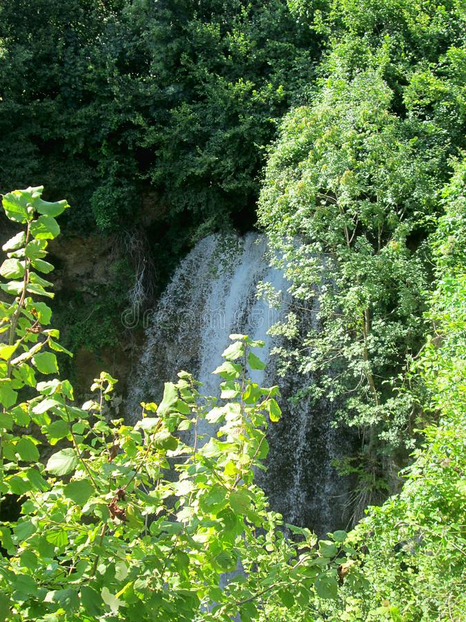 Beautiful waterfall Veliki Buk, Lisine in Serbia stock images