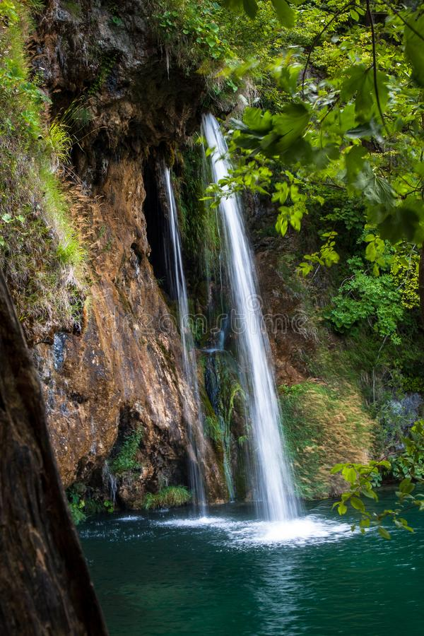 Beautiful Waterfalls, Plitvice Lakes, National Park, Forest, Croatia. Waterfalls in National park of Plitvice Lakes situated in Northern Croatia. Picture was stock photos