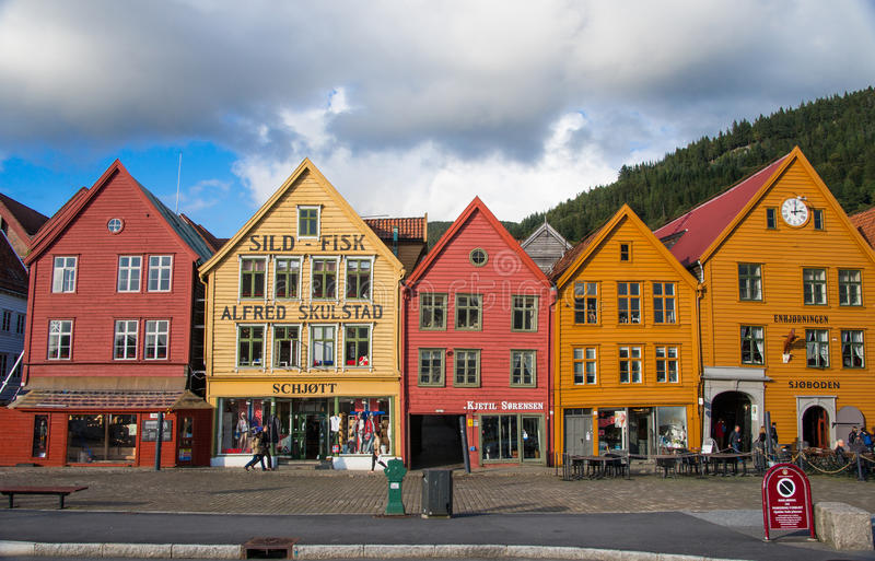 Beautiful waterfront views of Bergen royalty free stock images