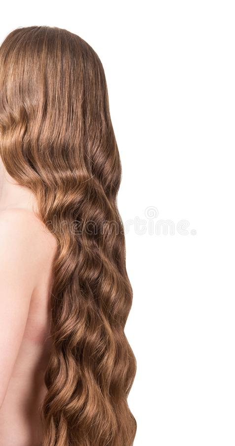 Rear View Of Naked Woman With Brown Hair Stock Photo - Image Of Pretty, Person 33815070-6203