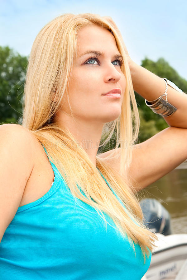 Download Beautiful And Wealthy Young Blondy Woman Stock Image - Image: 14201511