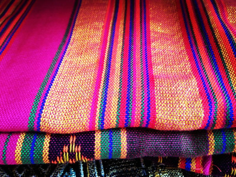 Beautiful weaving cloth royalty free stock images