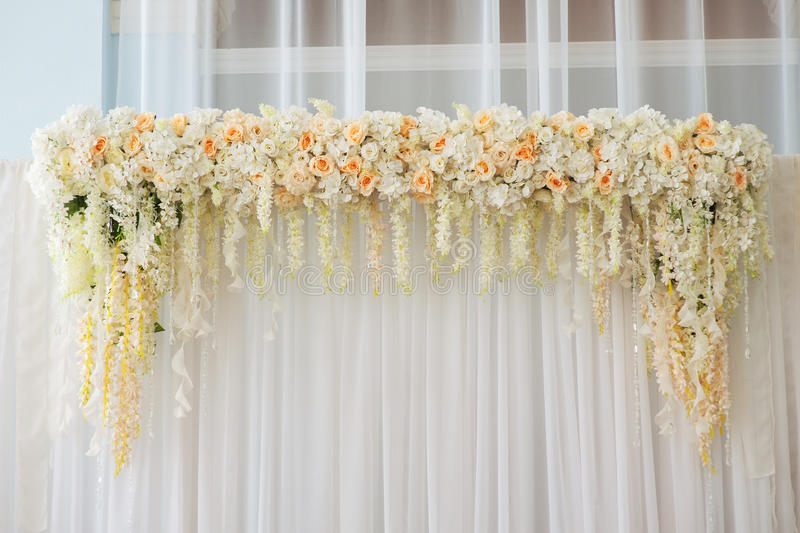 Beautiful wedding arch decorated with pink and white flowers indoors download beautiful wedding arch decorated with pink and white flowers indoors stock photo image of junglespirit Choice Image