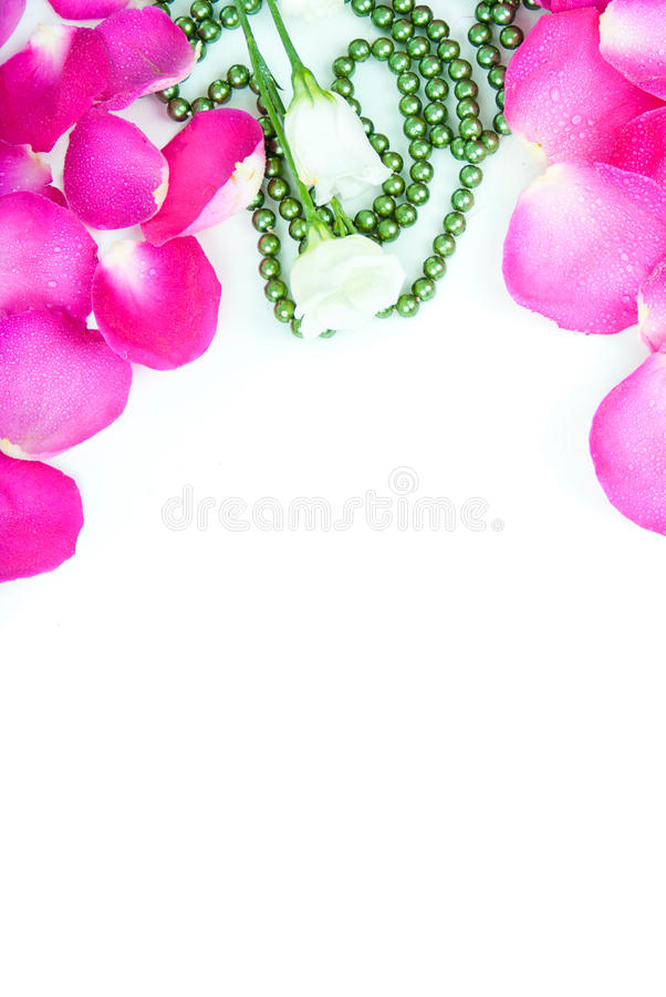 Download Beautiful Wedding Background With Beads And Rose Petals Stock Image - Image of macro, color: 28660567
