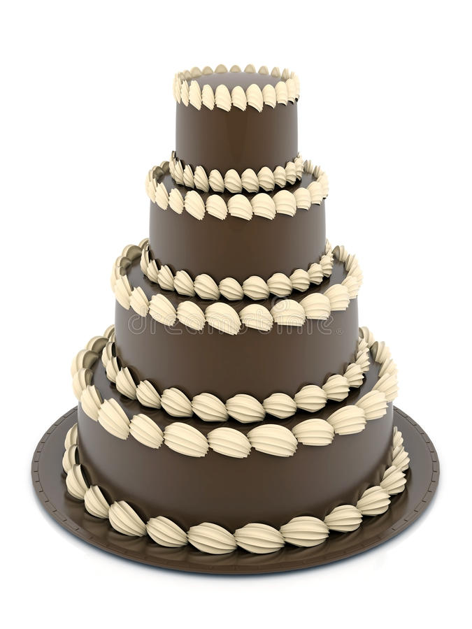 Download Beautiful wedding cake stock illustration. Image of icing - 21552618