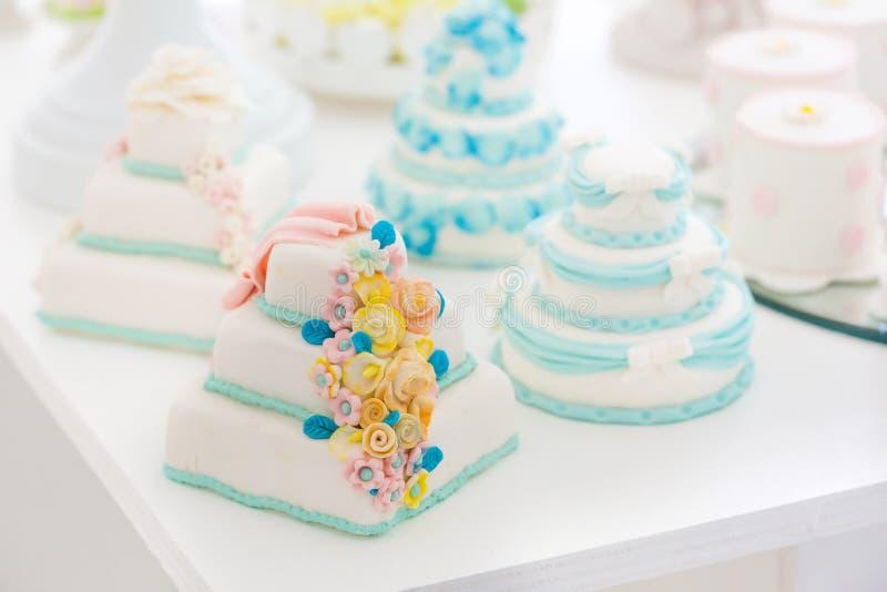 Beautiful wedding cake white royalty free stock photography