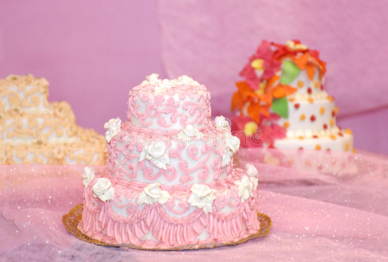 Beautiful Wedding Cakes stock photography
