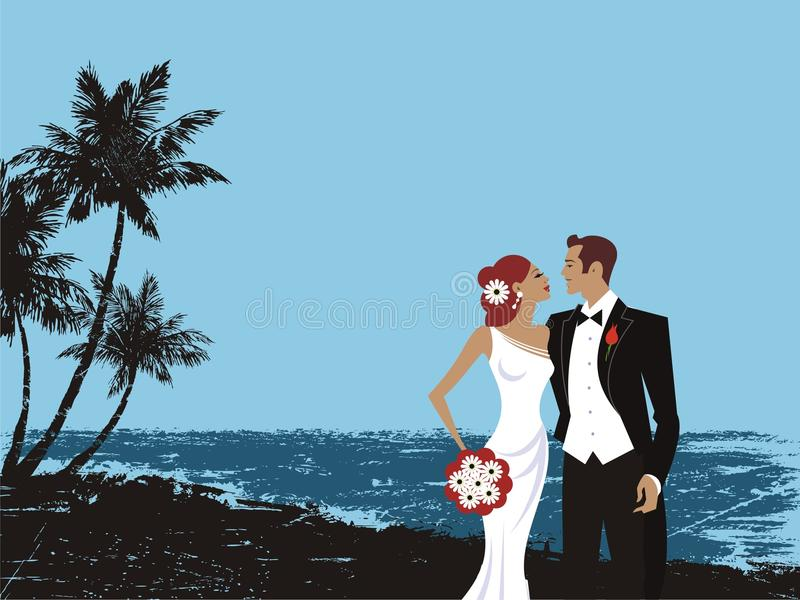 Beautiful wedding couple card