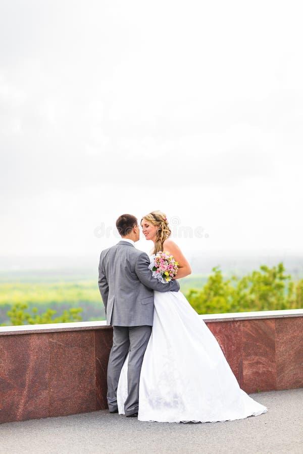 Beautiful wedding couple is enjoying wedding stock photos
