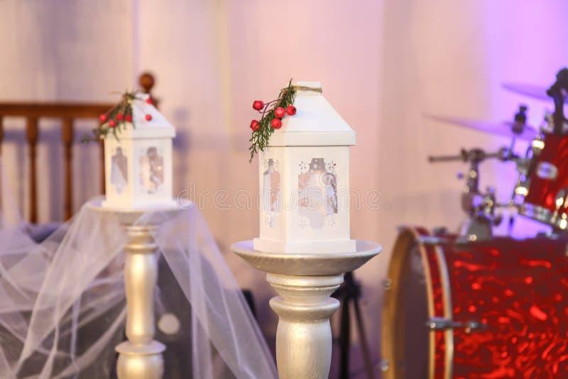 Beautiful wedding decorations stock image