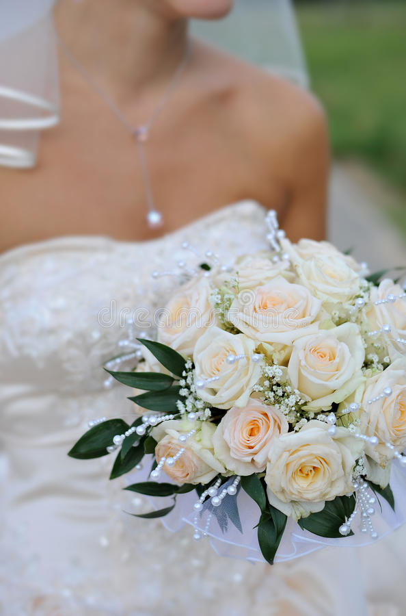Beautiful Wedding Flower Bouquet Stock Photo