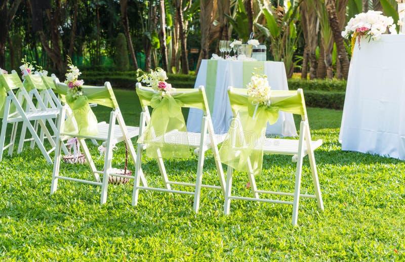 Beautiful wedding set up. royalty free stock photos