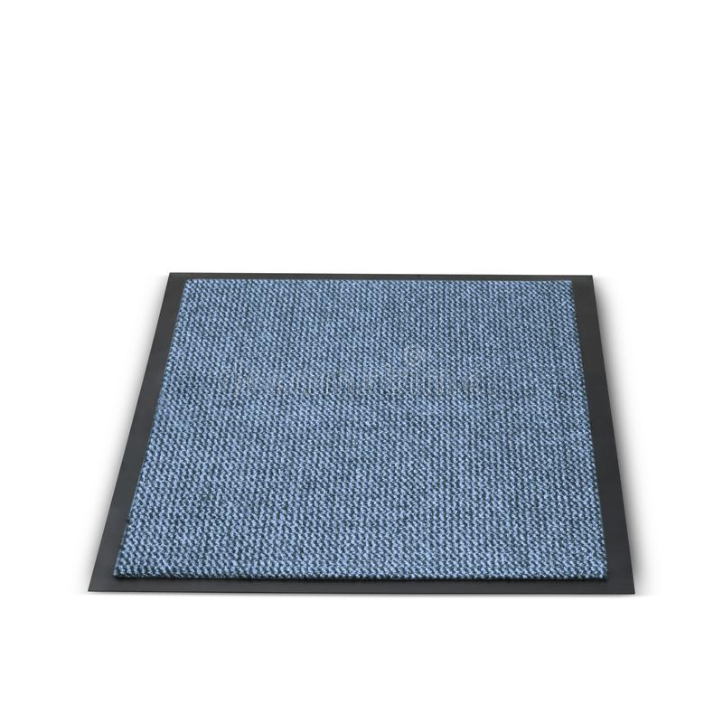 Beautiful welcome rectangular shape plain foot mat in a blue color. That gives a great touch of beauty with its finishing touch to either the entrance or the stock photos