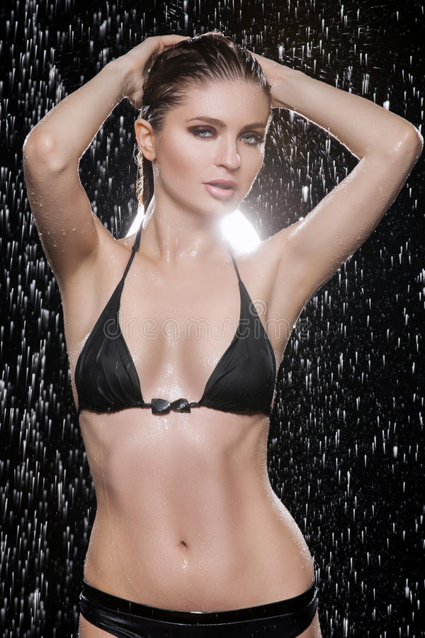 Download Beautiful wet women. stock image. Image of expression - 32660555