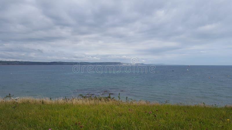 Beautiful Weymouth coastline stock photo