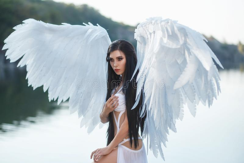 A beautiful white archangel stock photography