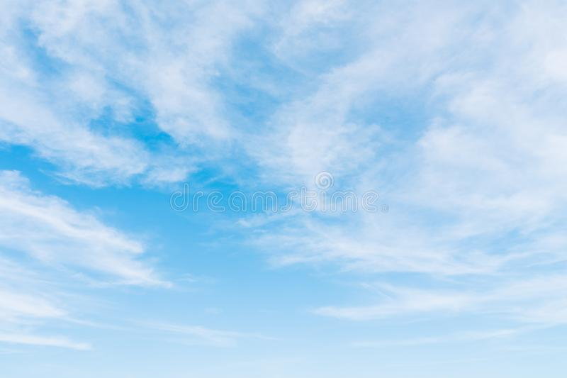 White cloud on blue sky. Beautiful white cloud on blue sky background royalty free stock photography
