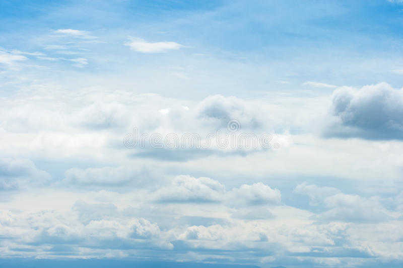 Beautiful white cloud on blue sky. Background royalty free stock photos