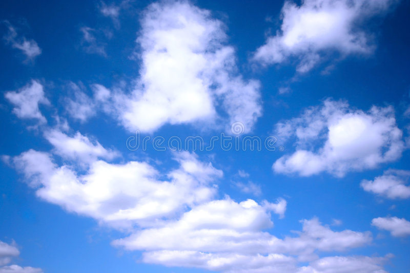 Beautiful white clouds royalty free stock photos