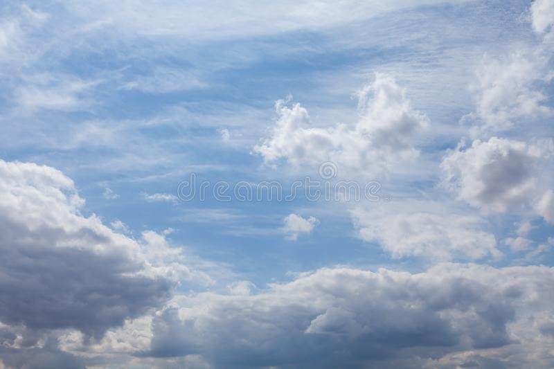 Beautiful white clouds and blue sky 0105 royalty free stock photography