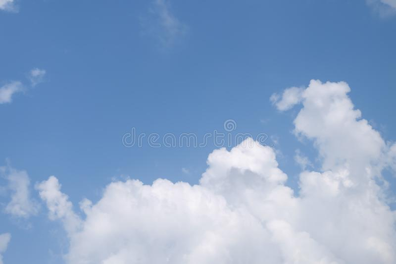 Beautiful white clouds with blue sky background, tiny clouds.  stock photo