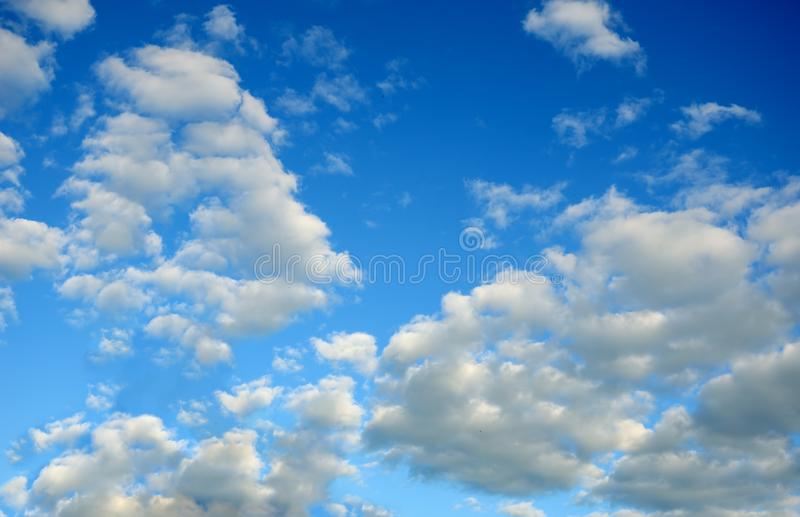 Beautiful white clouds in the blue sky royalty free stock photos
