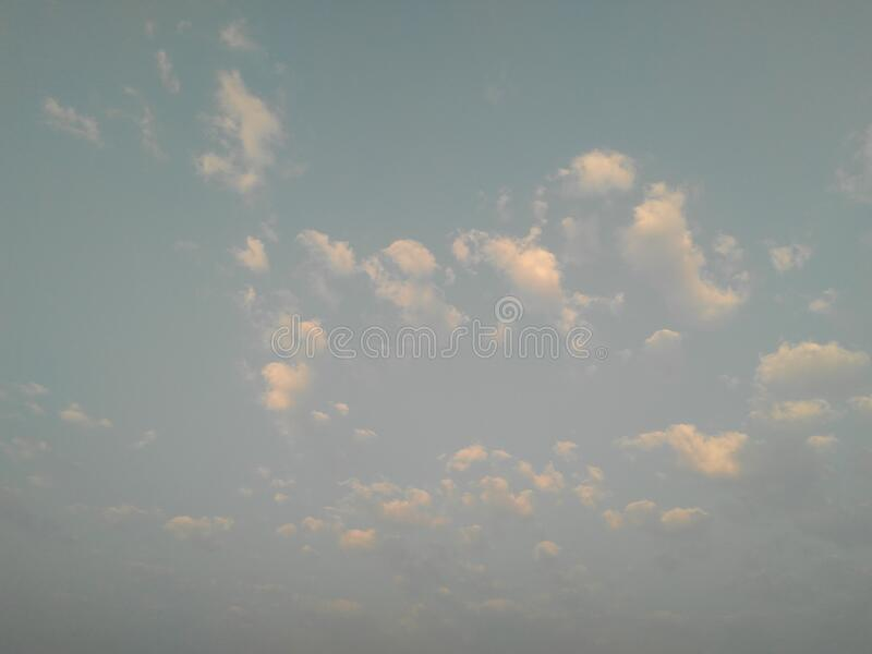 Beautiful white clouds in the blue sky, natural scenery landscape. Photography stock images