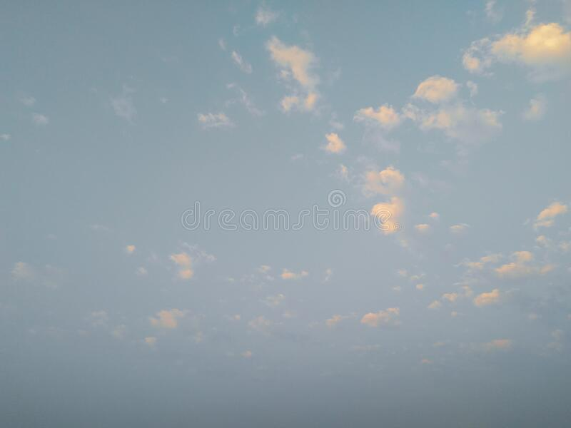 Beautiful white clouds in the blue sky, natural scenery landscape. Photography stock image