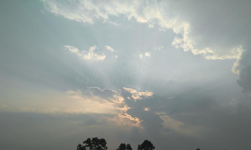 Beautiful white clouds in the blue sky, natural scenery view, nature photography royalty free stock photos