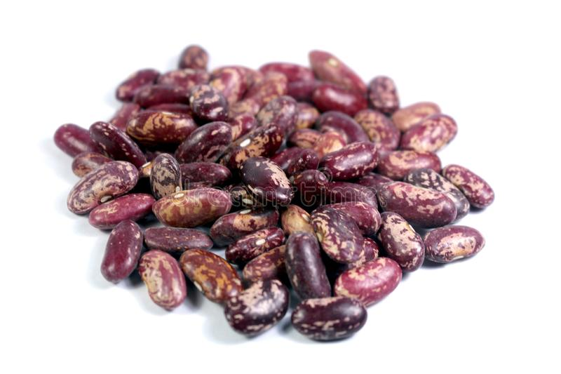 Red Kidney Beans white doted Isolated on white background stock photos