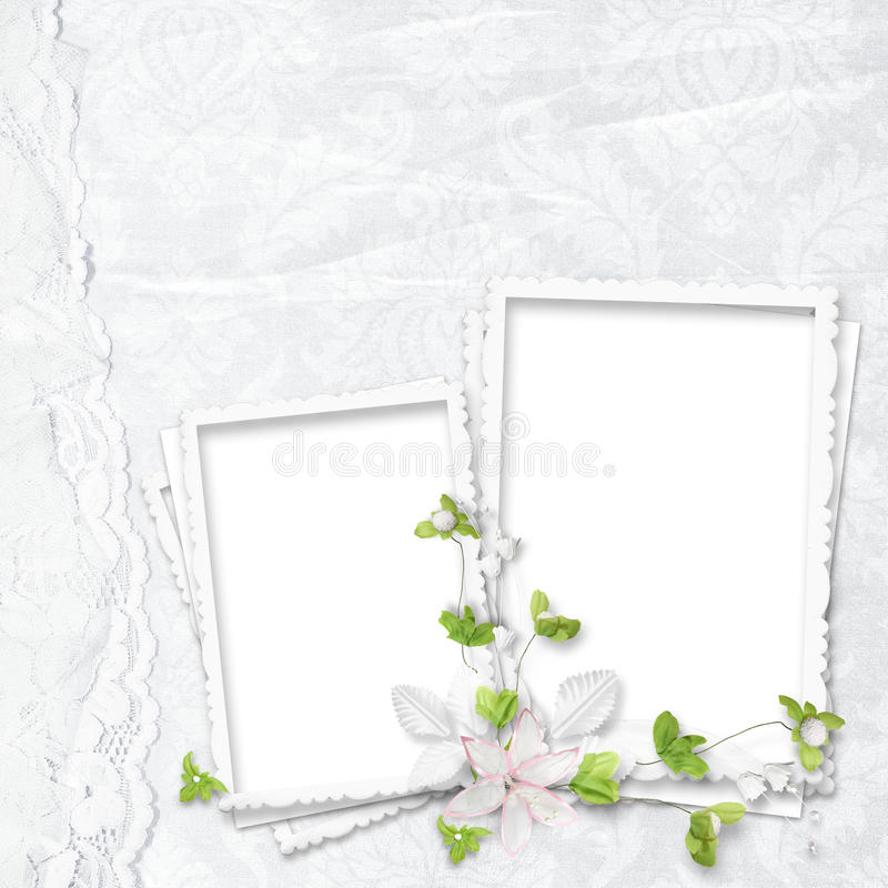 Download Beautiful White Frame For Two Photos Stock Illustration - Image: 23040657