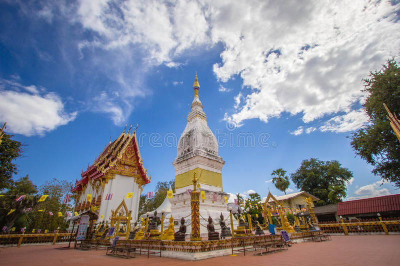 Beautiful white pagoda at Luang temple, Thailand. Beautiful big white pagoda at Luang temple, Thailand stock photo