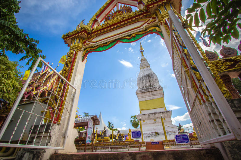 Beautiful white pagoda at Luang temple, Thailand. Beautiful big white pagoda at Luang temple, Thailand royalty free stock photo