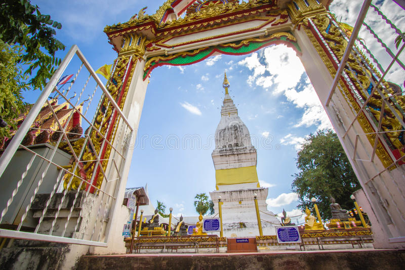 Beautiful white pagoda at Luang temple, Thailand. Beautiful big white pagoda at Luang temple, Thailand stock photography