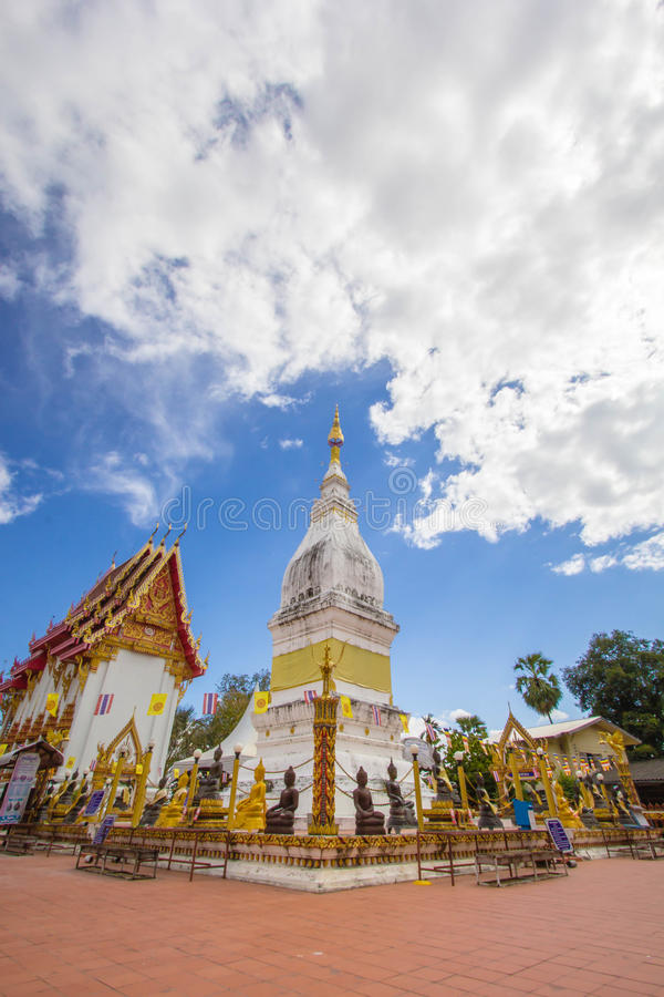 Beautiful white pagoda at Luang temple, Thailand. Beautiful big white pagoda at Luang temple, Thailand stock image