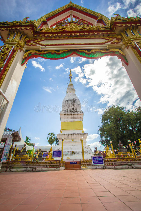 Beautiful white pagoda at Luang temple, Thailand. Beautiful big white pagoda at Luang temple, Thailand stock photos