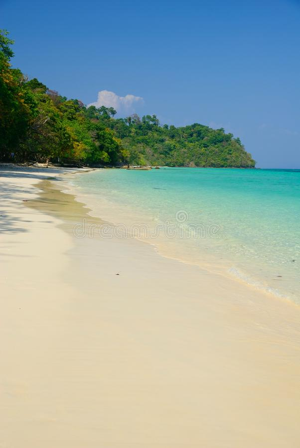 Download Beautiful White Sand Beach Of Koh Rok Island Stock Photo - Image of relax, backdrop: 17894352