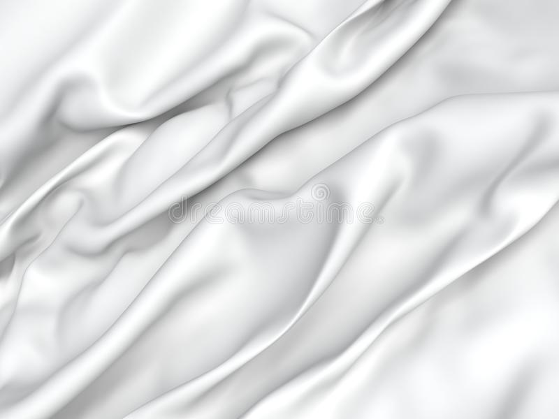 Abstract Texture, White Silk. Beautiful White Satin Fabric for Drapery Abstract Background 3d rendering vector illustration
