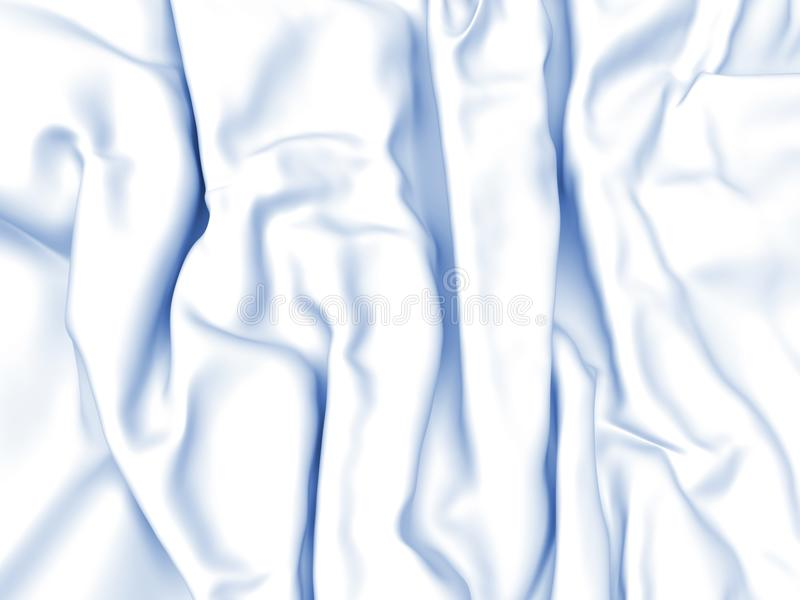 Abstract Texture, White Silk. Beautiful White Satin Fabric for Drapery Abstract Background 3d rendering royalty free illustration