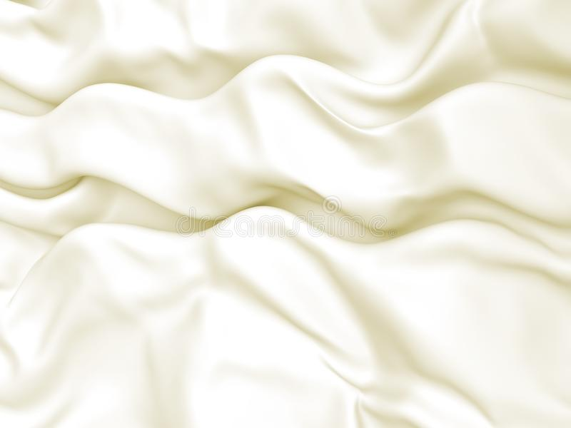 Abstract Texture, White Silk. Beautiful White Satin Fabric for Drapery Abstract Background. Silk Fabric. 3d rendering illustration royalty free illustration
